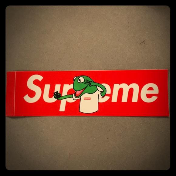 Supreme Custom Box Logo Red Sticker